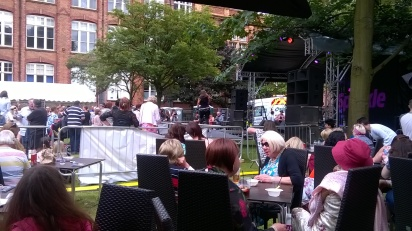 A further view from the VIP area of the stage