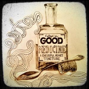 I certainly am enjoying my good medicine!